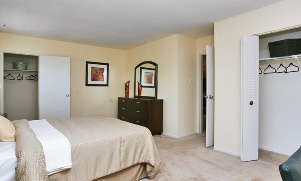 Beautiful bedroom at Lumberton Apartment Homes in Lumberton, NJ