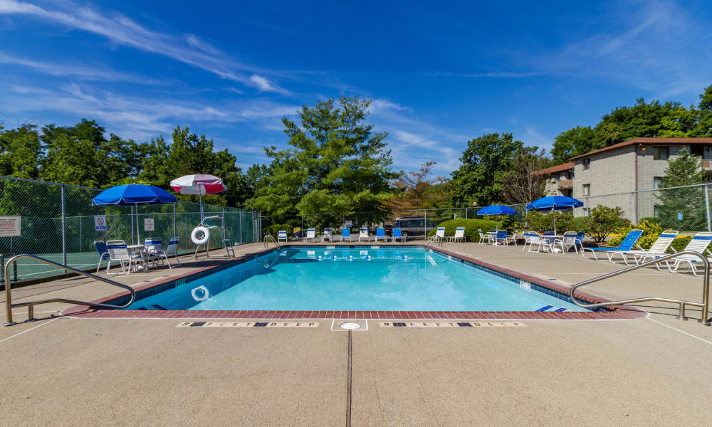 Unique swimming pool at Imperial Gardens Apartment Homes in Middletown, NY