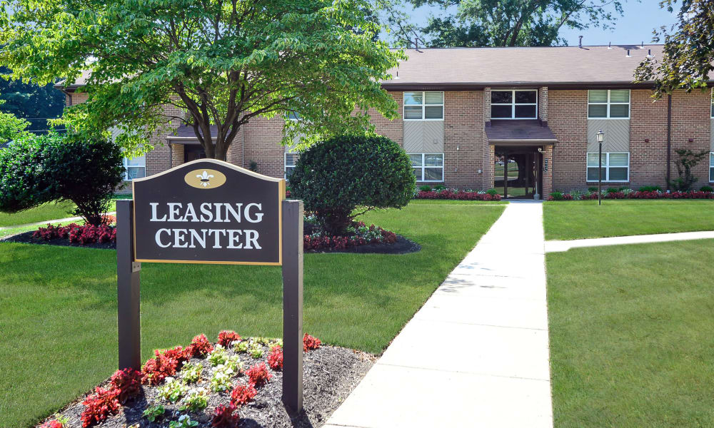 Leasing center at Sherwood Village Apartment & Townhomes