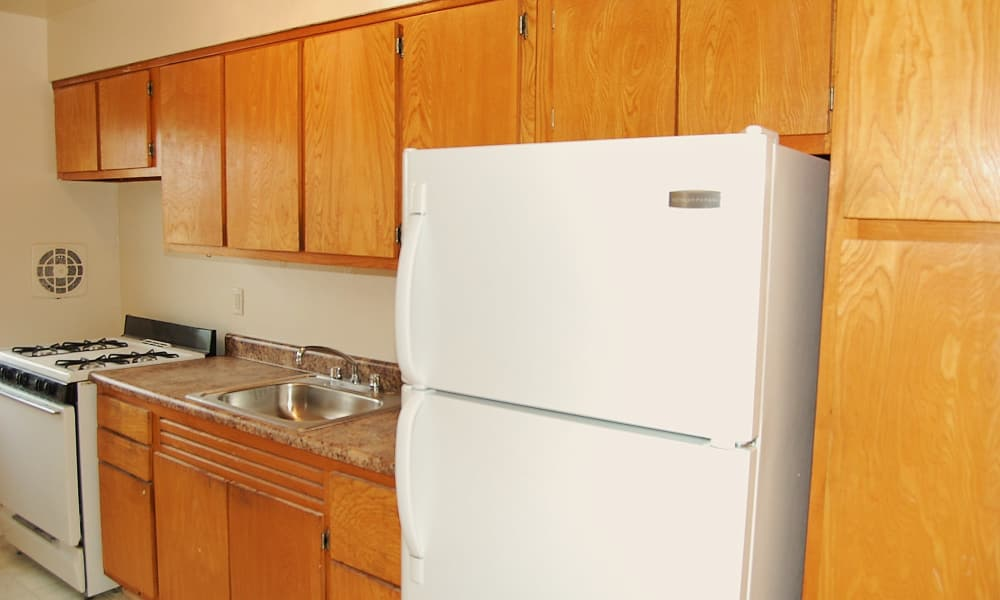 Village Green Apartment Homes offers a fully equipped kitchen in South River, NJ