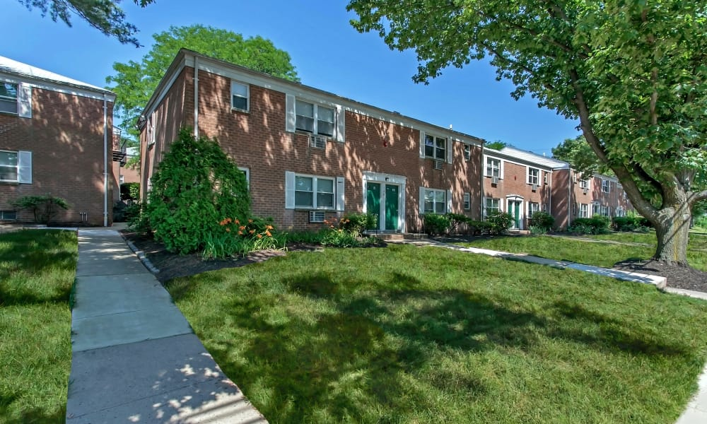 Well maintained lawn at Village Green Apartment Homes in South River, NJ