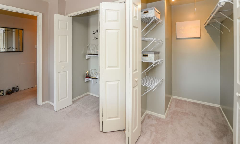 Plenty of walk-in closet space available at Greentree Village Townhomes in Lebanon, PA