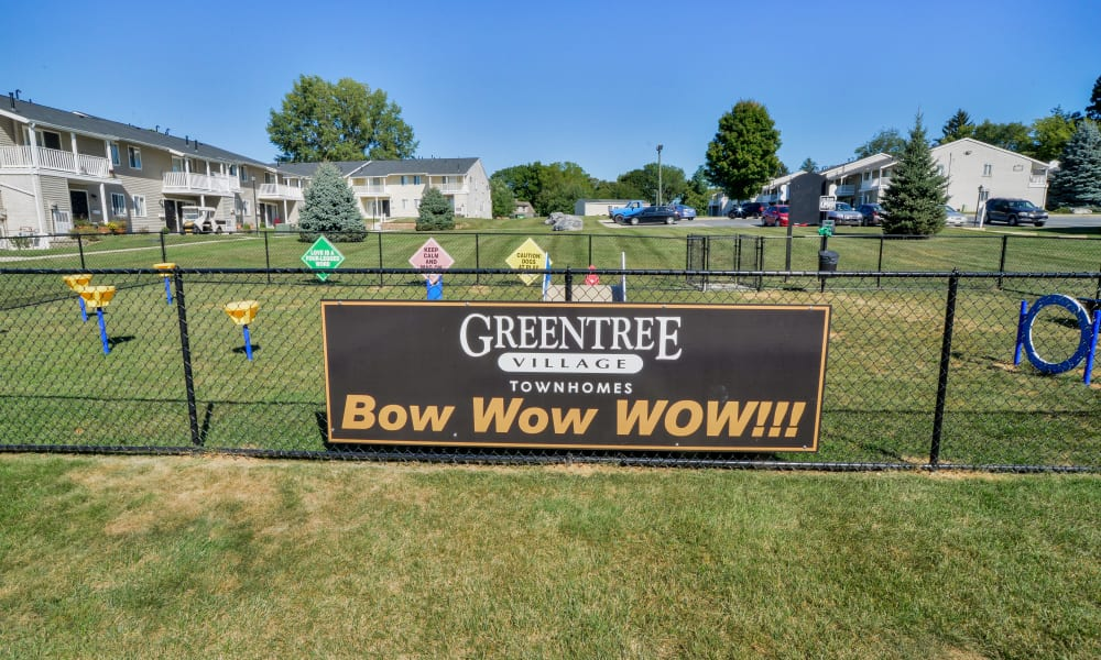 Bark park at Greentree Village Townhomes in Lebanon, PA