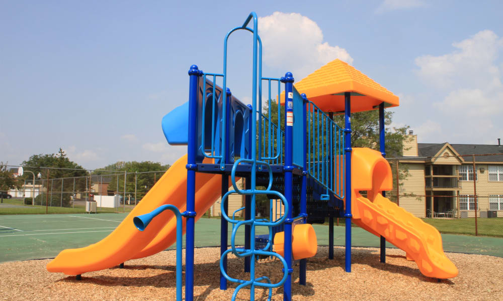Colorful playground area at Hidden Lakes Apartment Homes in Miamisburg, Ohio