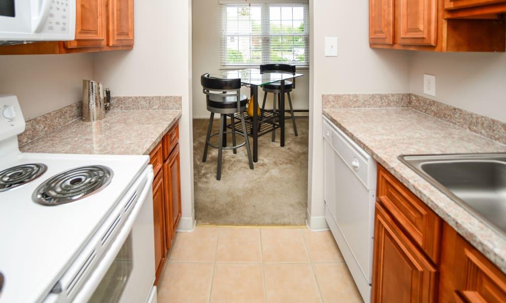 Our apartments in King of Prussia, Pennsylvania showcase a spacious kitchen