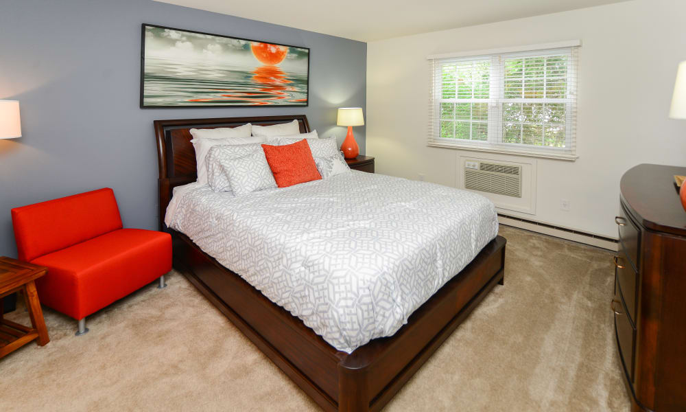 Unique bedroom at apartments in King of Prussia, Pennsylvania