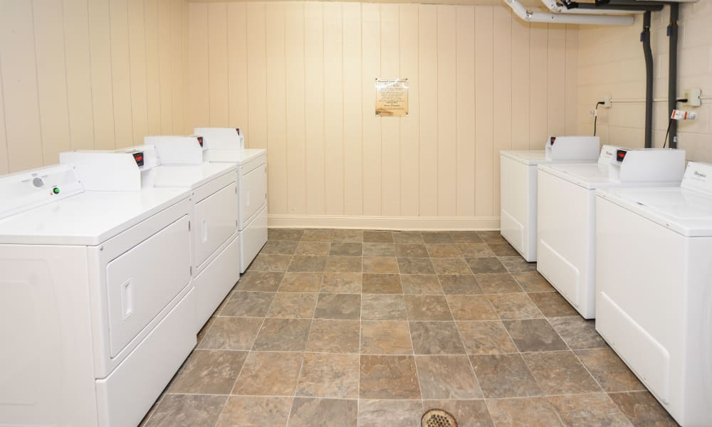 Enjoy apartments with a renovated laundry facility at Kingswood Apartments & Townhomes