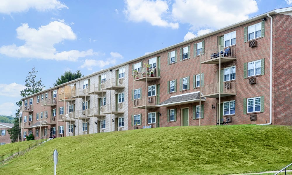 View at apartments in King of Prussia, Pennsylvania