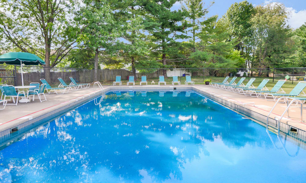 Oxford Manor Apartments & Townhomes offers a swimming pool in Mechanicsburg, PA