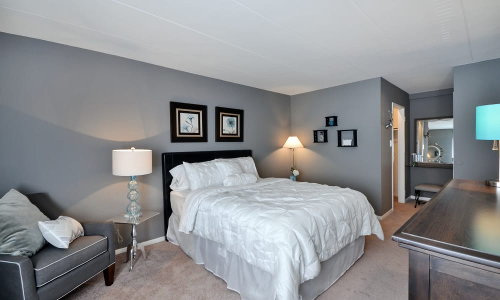 Another view of model bedroom at William Penn Village Apartment Homes in New Castle, Delaware