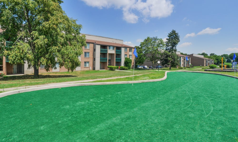 mini golf court at Lakewood Hills Apartments & Townhomes in Harrisburg, PA