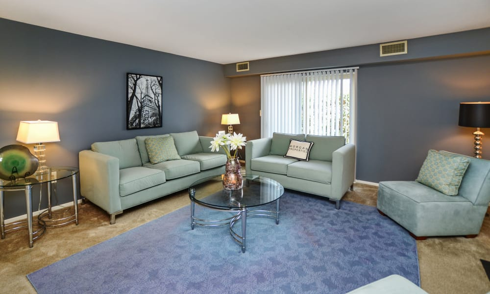 Lakewood Hills Apartments & Townhomes offers a beautiful living room in Harrisburg, PA
