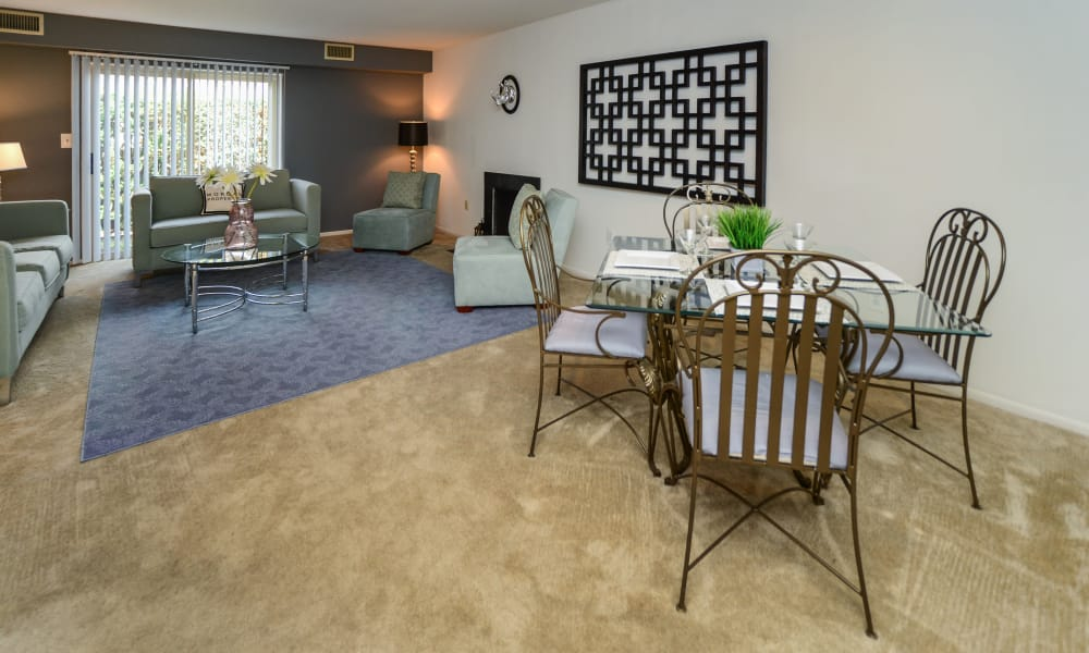 Our apartments in Harrisburg, PA offer a living and dining room combo