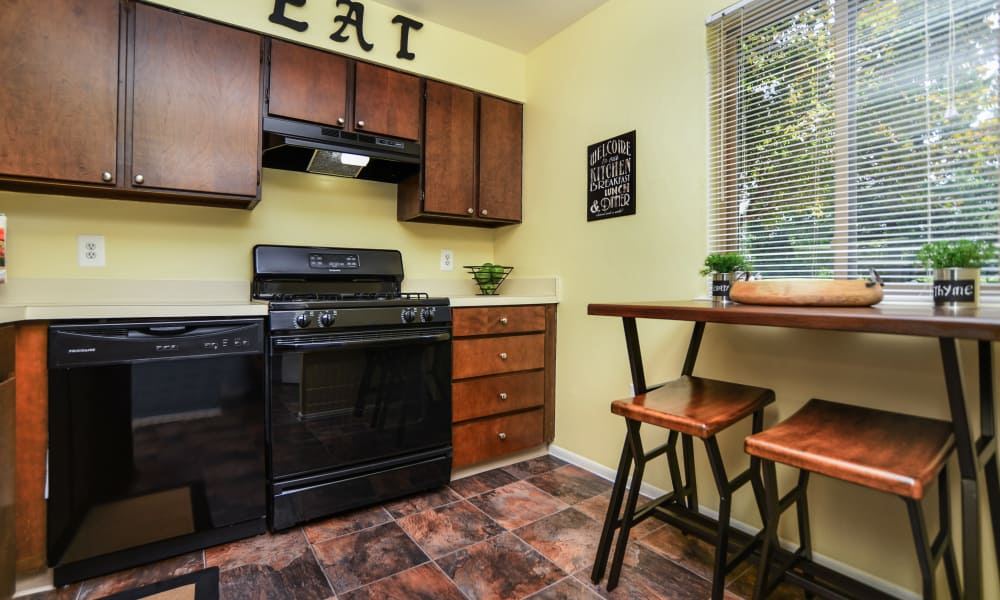 Lakewood Hills Apartments & Townhomes offers a beautiful kitchen in Harrisburg, PA