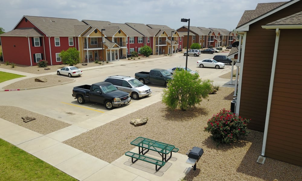 Apartment buildings at The Reserves at Saddlebrook in Burkburnett, TX