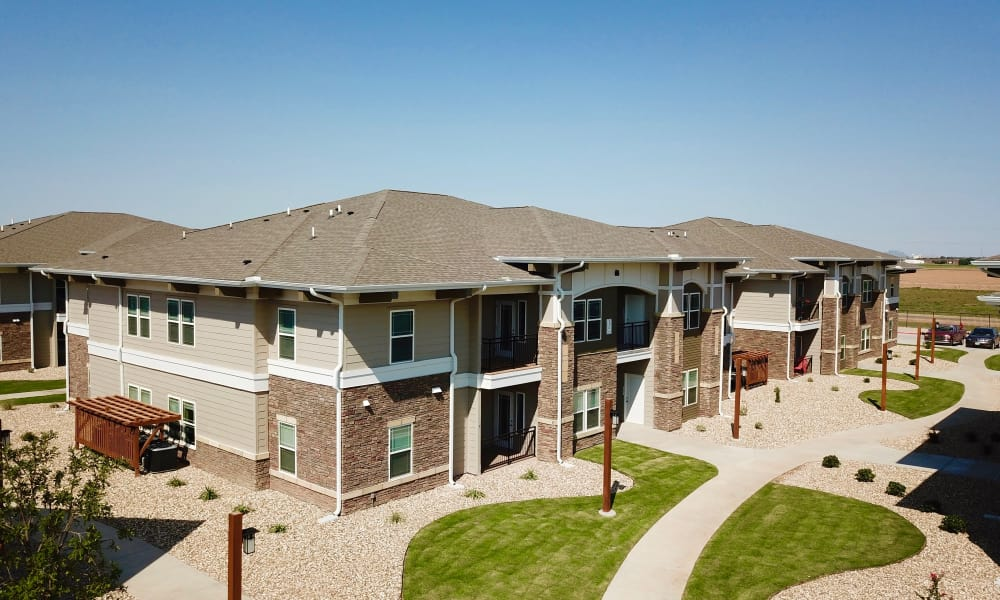 Apartment buildings at The Reserves at Preston Trails