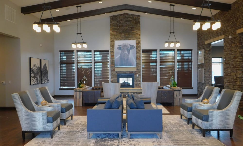 Clubhouse interior at The Reserves at Preston Trails