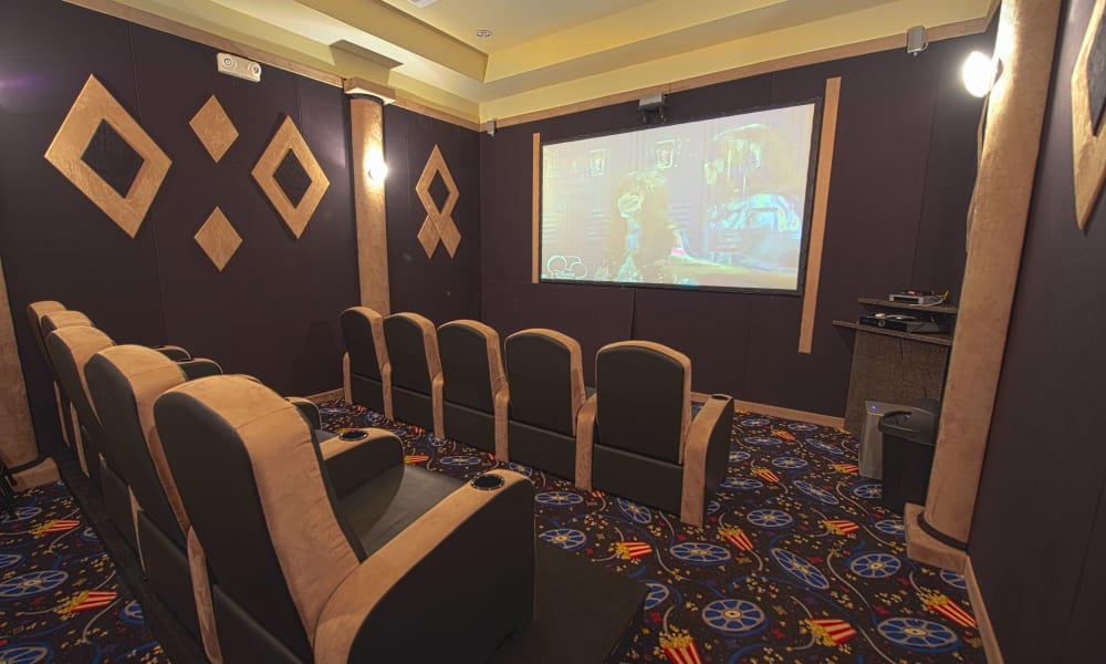 Theater room at Highland Ridge