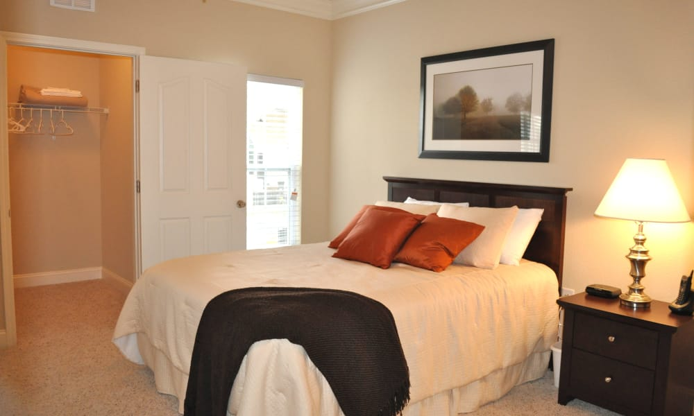 Master bedroom at Delaney Apartment Homes in Concord