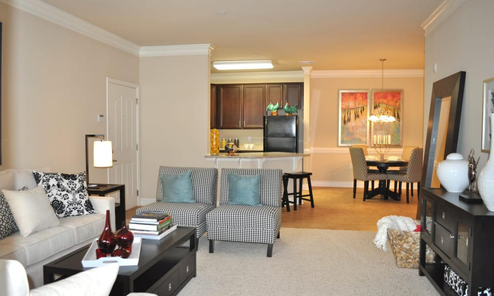 Beautiful living room at Delaney Apartment Homes in Concord