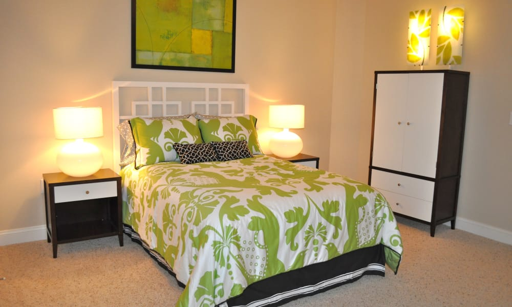 Guest bedroom at Delaney Apartment Homes in Concord