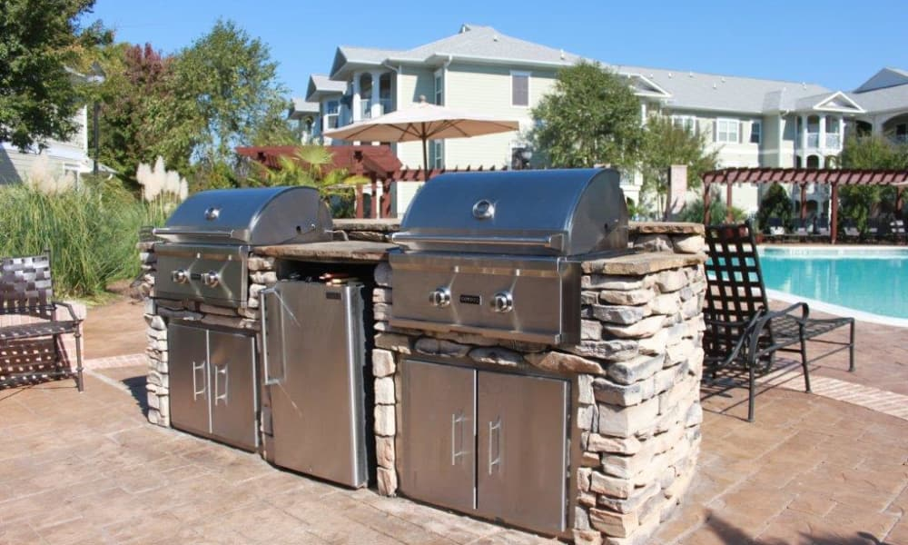 Built in BBQs at Delaney Apartment Homes in Concord
