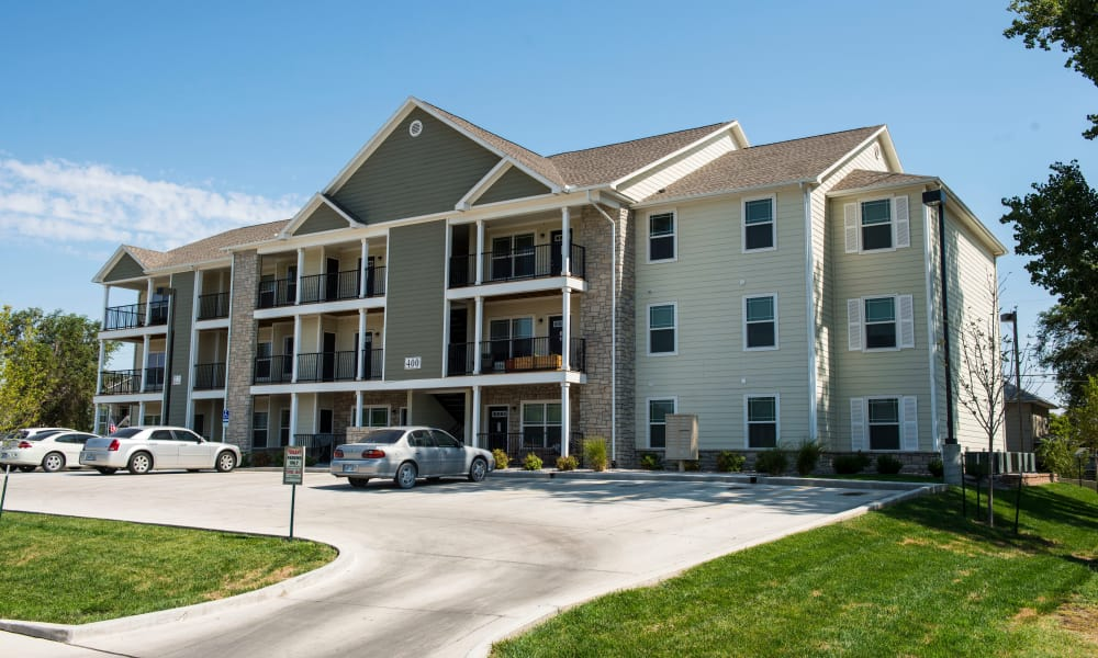 Exterior view of Stonepost Apartments
