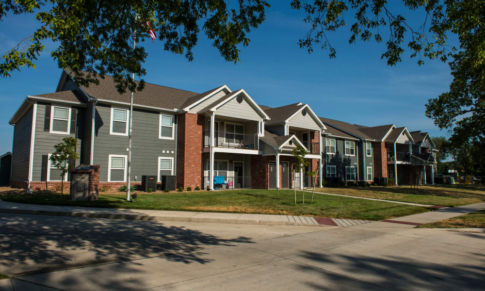 Apartment buildings at Heritage at Hawthorne Village