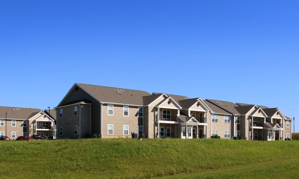 Exterior view of apartments at Reserves at Briarwood