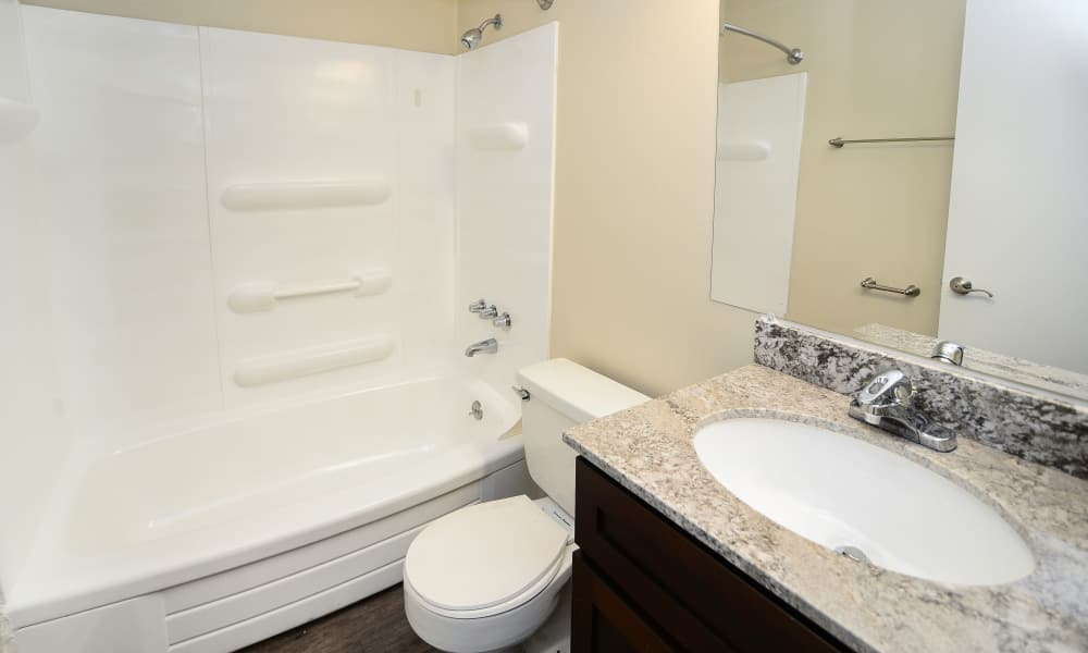 Bathroom at Cedar Creek Apartment Homes in Glen Burnie, MD
