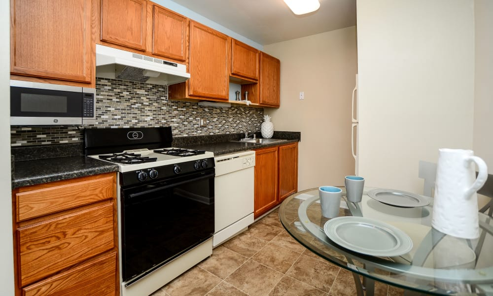 Our apartments in Glen Burnie, MD showcase a beautiful kitchen