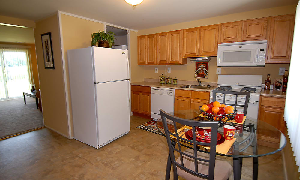 State-of-the-art kitchen at apartments in Baltimore, Maryland