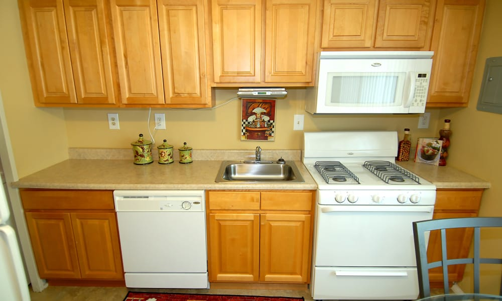 Beautiful kitchen at apartments in Baltimore, Maryland