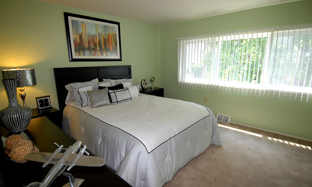 Our apartments in Baltimore, Maryland showcase a beautiful bedroom