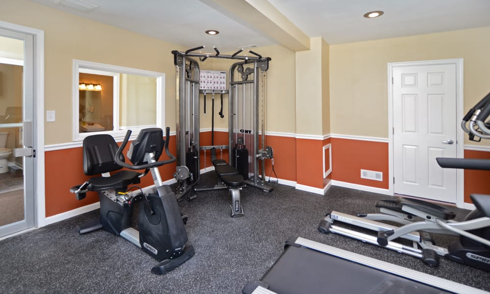 Another view of the spectacular fitness center at Arbors at Edenbridge Apartments & Townhomes in Parkville, MD