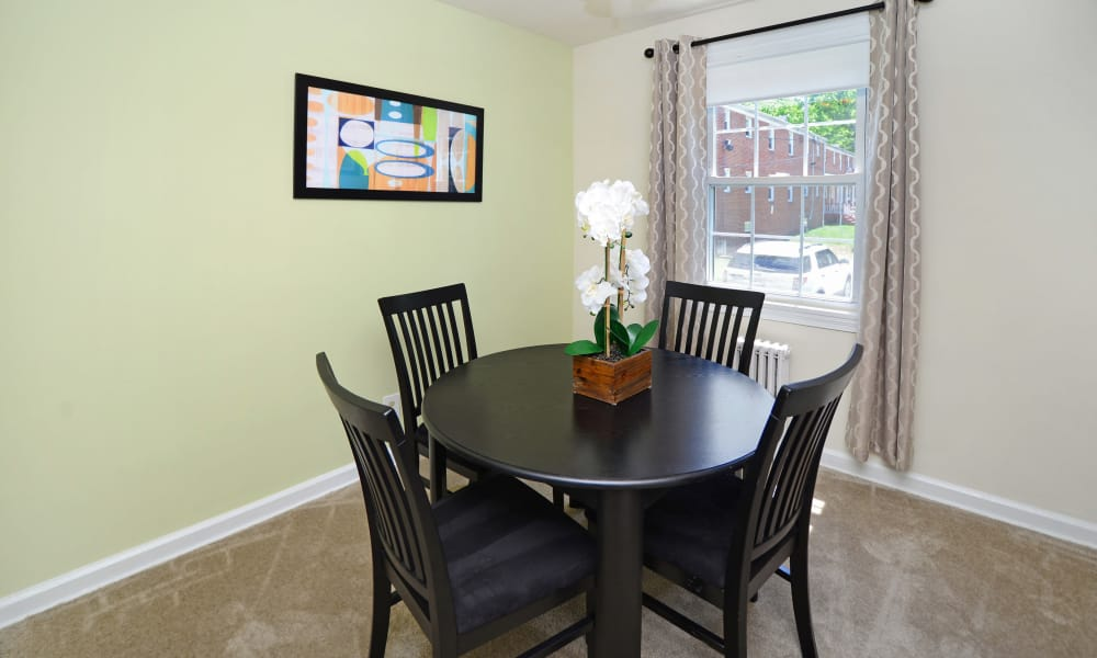Dining room at Oak Grove Apartments & Townhomes in Middle River, MD
