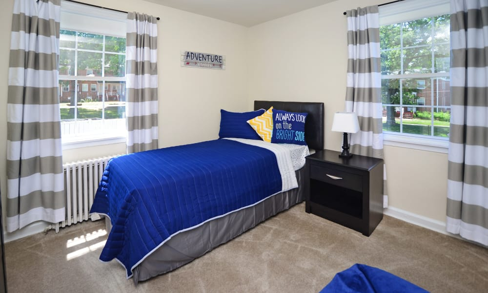 Beautiful bedroom at Oak Grove Apartments & Townhomes in Middle River, MD