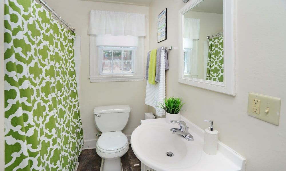 Bathroom at Oak Grove Apartments & Townhomes in Middle River, MD
