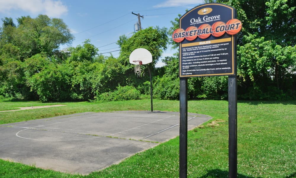 Oak Grove Apartments & Townhomes offers a basketball court in Middle River, MD