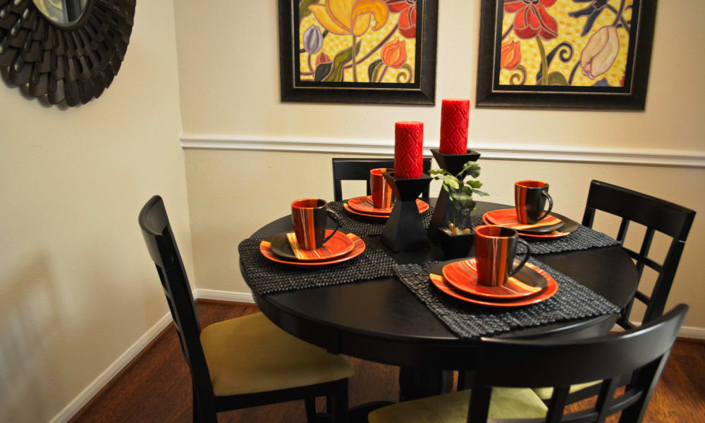 Spacious dining area at The Abbey At Enclave apartments in Houston, TX