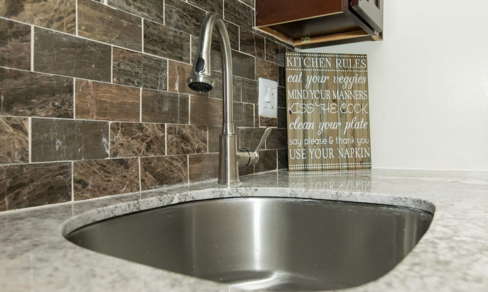 Modern apartments with stainless-steel sink in Glen Burnie, Maryland