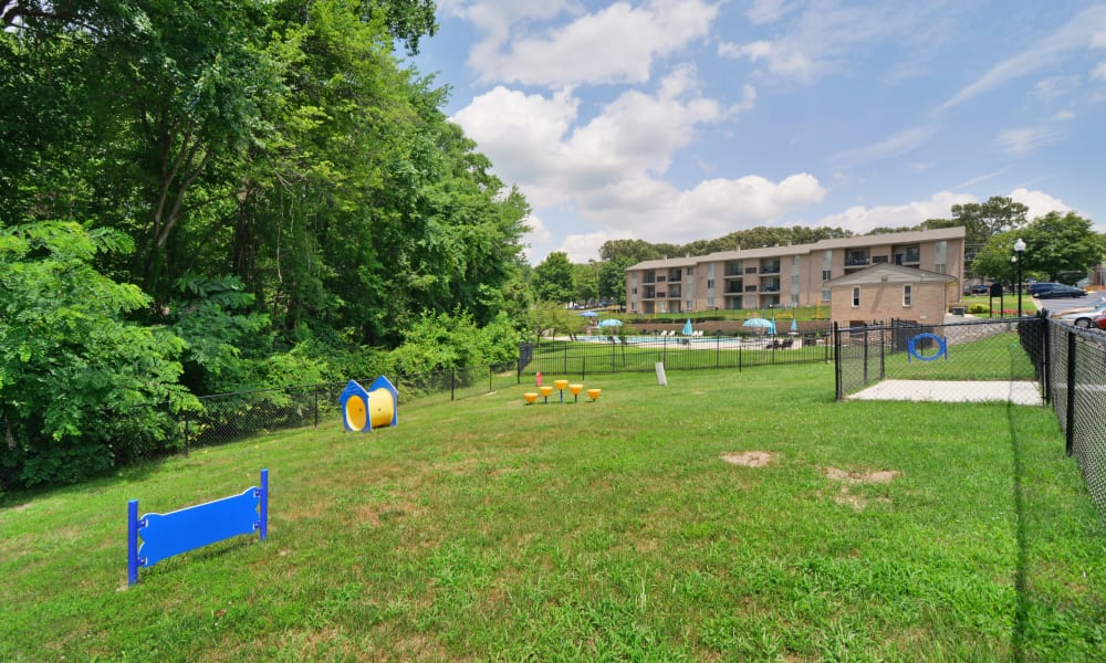 Beautiful exterior areas at Quail Hollow Apartment Homes in Glen Burnie, Maryland