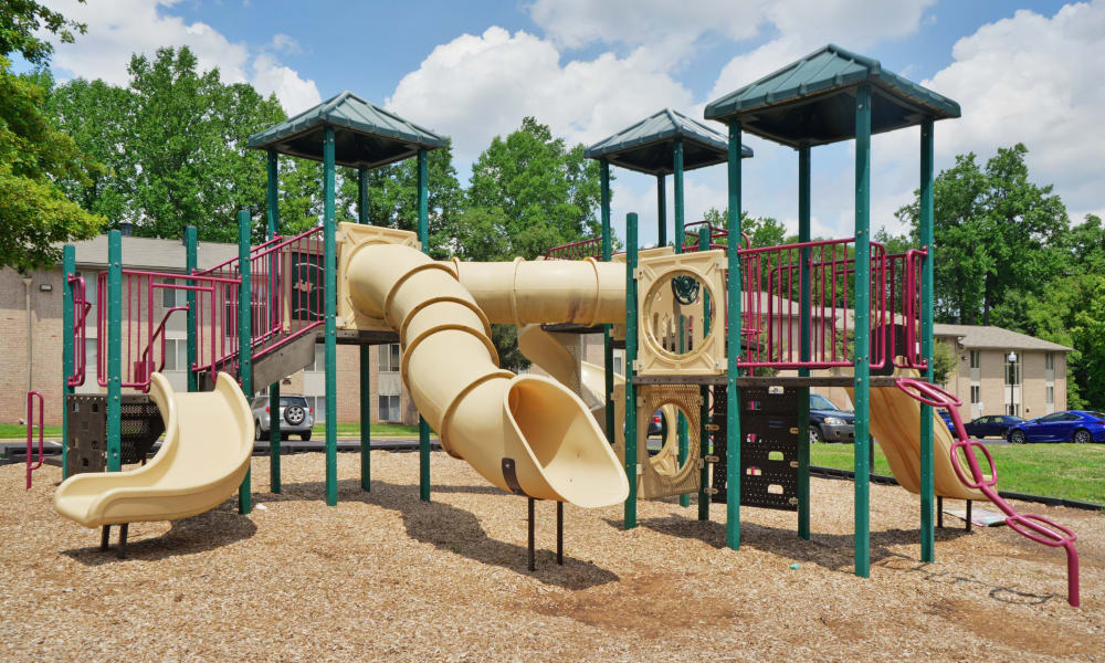 A playground that is great for entertaining at apartments in Glen Burnie, Maryland