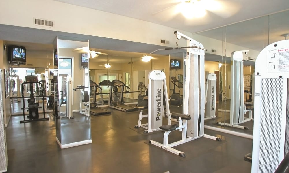Stonesthrow Apartment Homes offers a fitness center in Greenville, SC