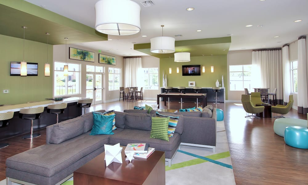 Spacious Clubhouse living at The Townhomes at Diamond Ridge in Baltimore, MD