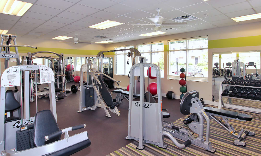 The Townhomes at Diamond Ridge offers a fitness center in Baltimore, MD