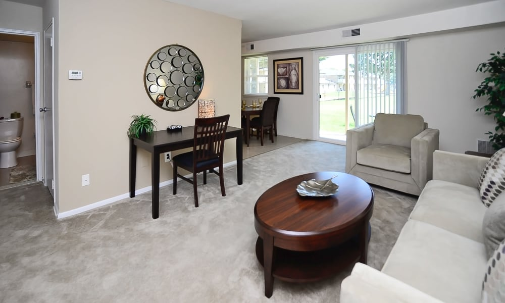 Living room at Eastampton Gardens Apartment Homes