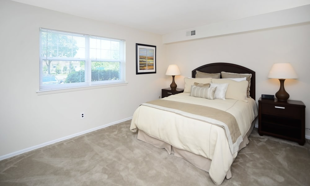 Master bedroom at Eastampton Gardens Apartment Homes