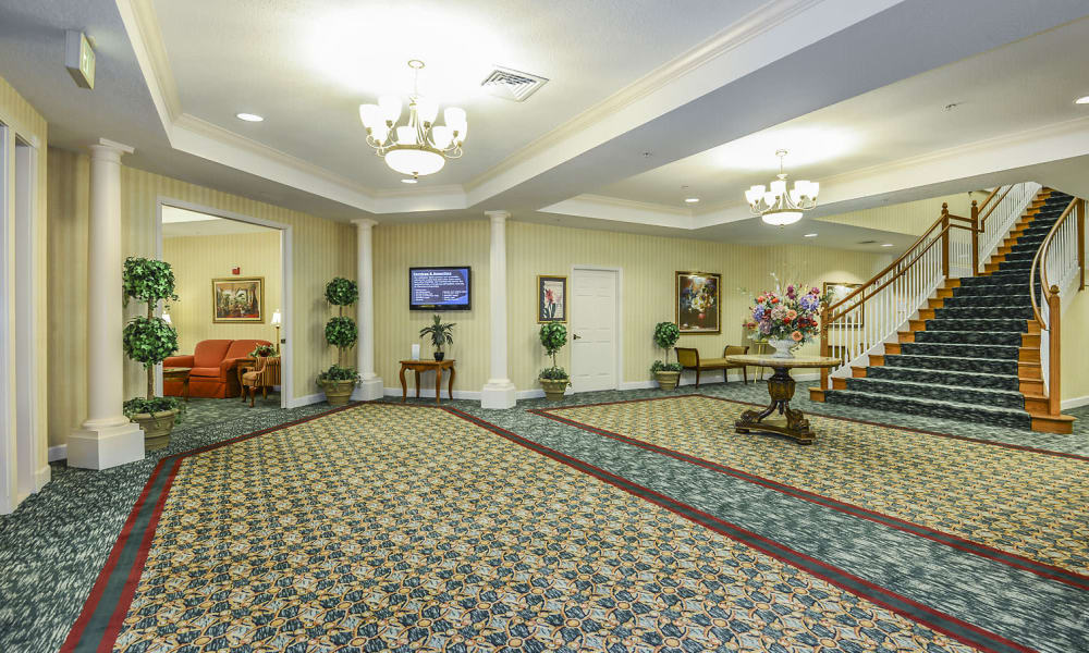 Main foyer at Arbor Oaks at Greenacres in Greenacres, Florida