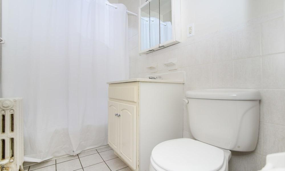 bathroom at Hillside Gardens Apartment Homes